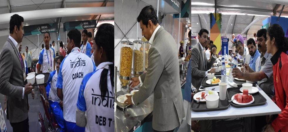 Secret behind Rajyavardhan Rathore serving food to athletes solved (Photo: Digvijay Singh Deo/Twitter)