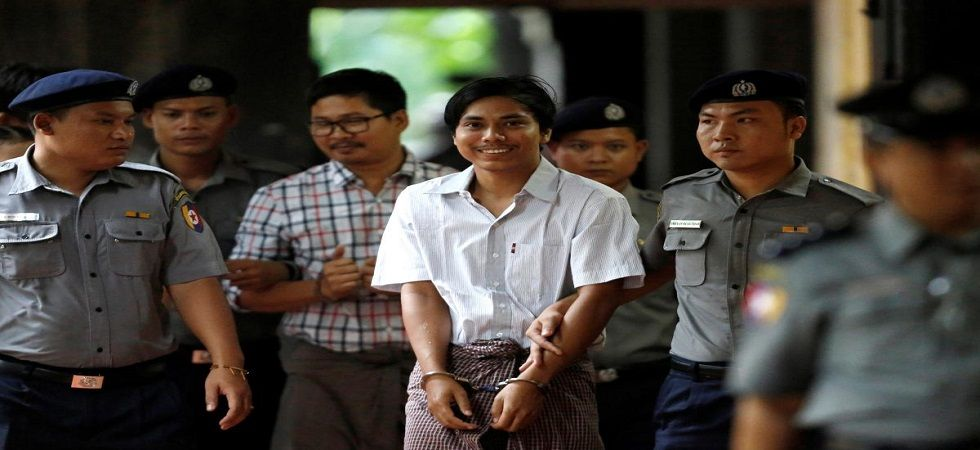 Reuters reporters jailed for seven years in Myanmar 'state secrets' case (Photo- Twitter/@cahulaan)