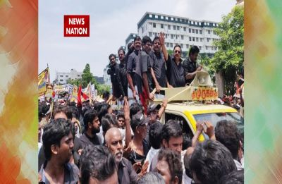 Alagiri rally: Expelled DMK leader pays tribute to late Karunanidhi at Chennai's Marina beach