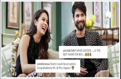Shahid and Mira welcome baby boy and fans are suggesting names already!