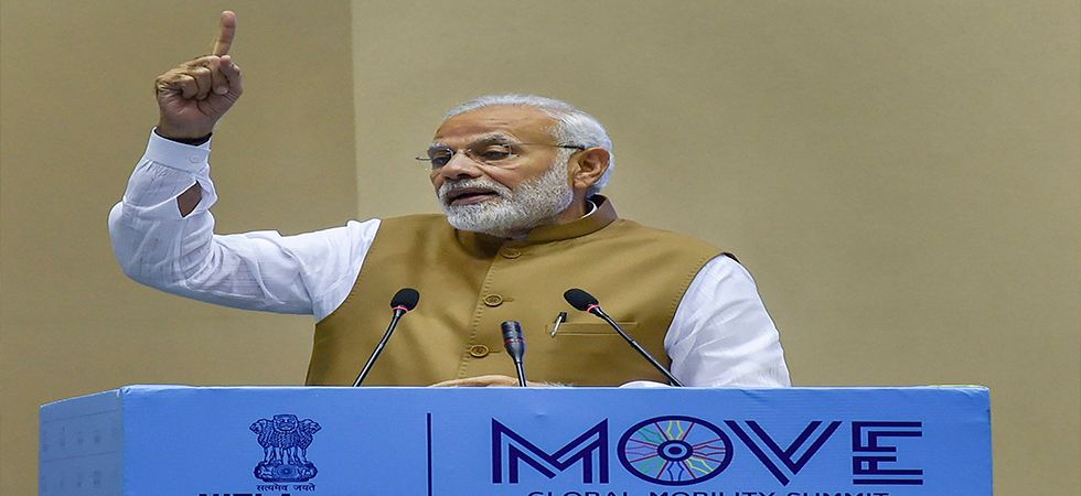 MOVE: PM Modi pitches for 'clean kilometres' to fight climate change (Photo: Twitter)