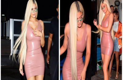 Kylie Jenner stuns in a tightest latex dress we've ever Seen!