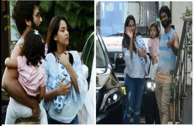Shahid Kapoor, Mira and Misha take baby Zain home; See Pictures