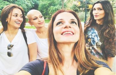 Sussanne Khan and Gayatri Oberoi are the 'friends indeed' for Sonali Bendre