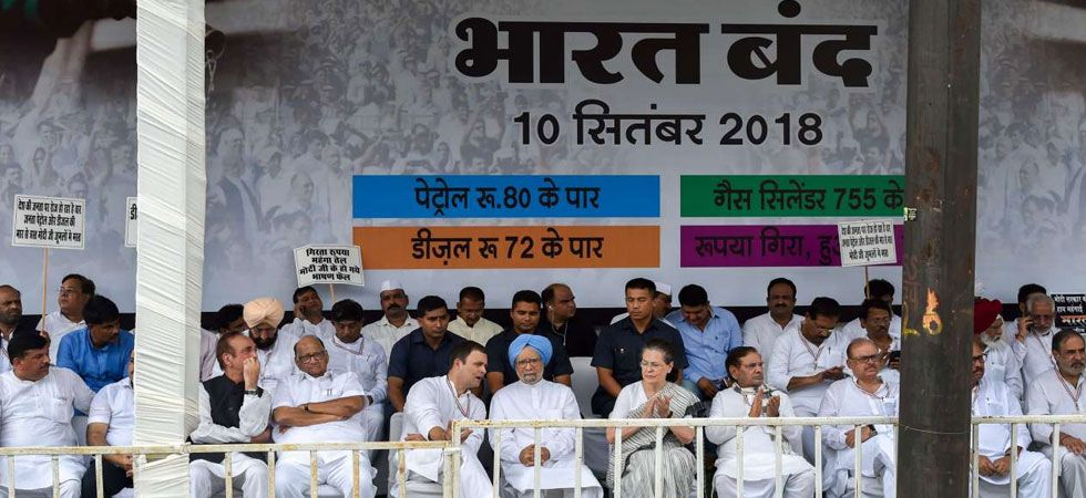 Bharat Bandh: Opposition's sturdy attack on Modi over fuel price hike (PTI Photo)