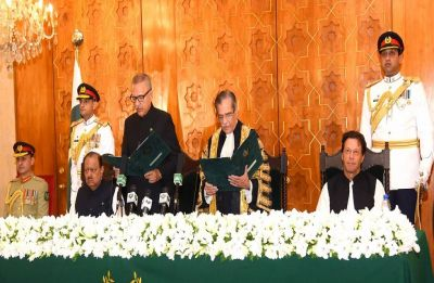 Arif Alvi takes charge as Pakistan's new president