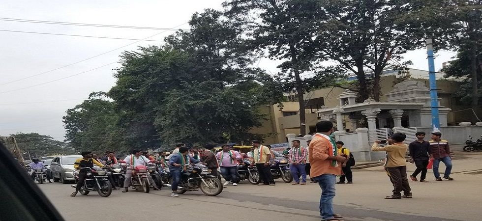 Bharat Bandh: Normal life hit in Karnataka (Photo- Twitter)