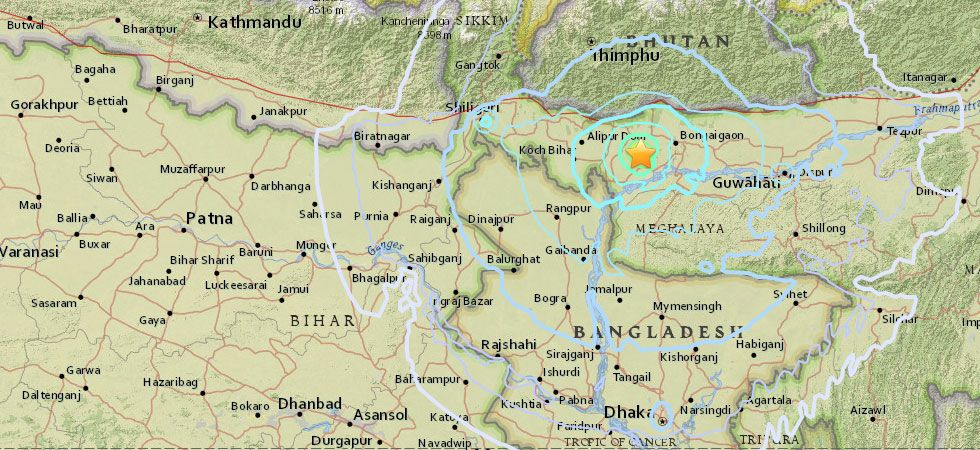 Earthquake in Assam, tremors felt across West Bengal, Bihar