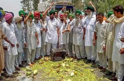 Over 600 sugarcane farmers block rail, road traffic in Hoshiarpur