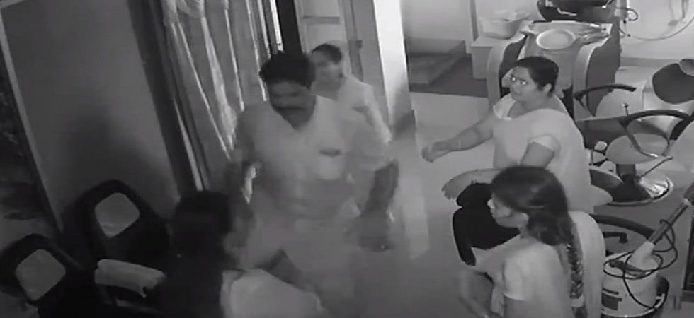 DMK cadre arrested, expelled after video of him thrashing woman goes viral (Photo- Twitter/ANI)