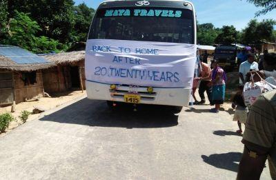 28 families of Bru refugees return to Mizoram