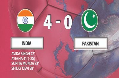 Indian women thrash Pakistan 4-0 in AFC Championship Qualifiers