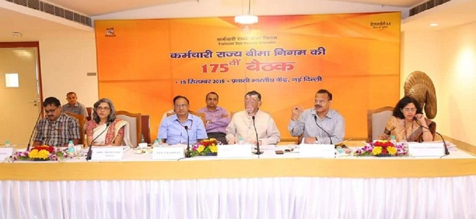 The meeting was chaired by Union Minister of State for Labour and Employment Santosh Kumar Gangwar.