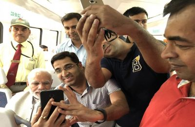 PM Modi takes Airport Metro ride to Dwarka event; passengers take selfies with him