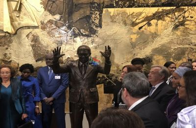 Statue of Nelson Mandela dedicated at United Nations