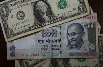 US dollar ends sharply higher against rupee