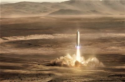 SpaceX CEO Elon Musk tweets pictures of Big Falcon Rocket and Mars Alpha Base