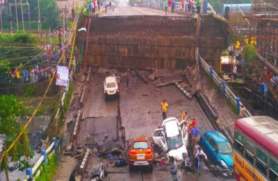 Under-construction bridge collapses at South 24 Parganas in West Bengal