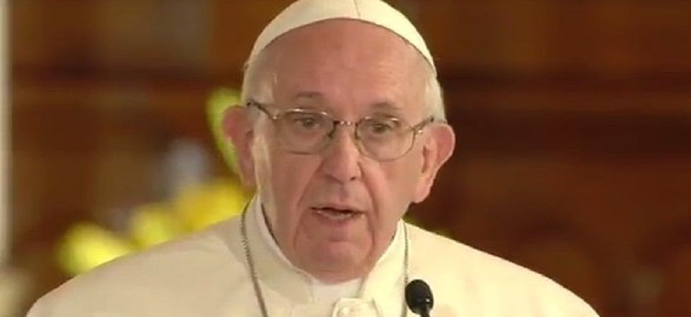 Pope acknowledges abuse scandals driving people from church (Photo- Twitter/@Cindy_Wooden)