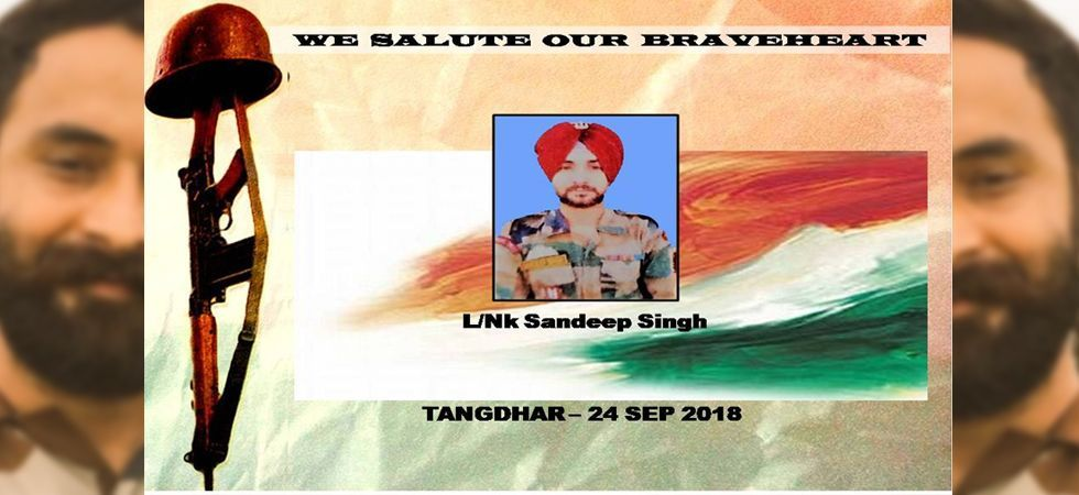 Before his death, Sandeep Singh killed two infiltrators trying to cross the border at Tangdhar area of Kupwara.
