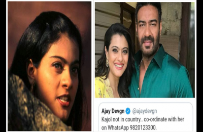 Ajay Devgn Tweeted out Kajol's number on Twitter; Gets scolded in Public