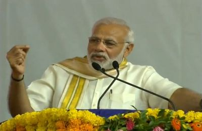 Modi attacks Congress in Rajkot: 'Abuse me, but don't belittle icons like Mahatma Gandhi, Sardar Patel'