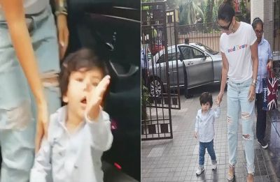 Taimur just said his first word to the paparazzi! Video Inside