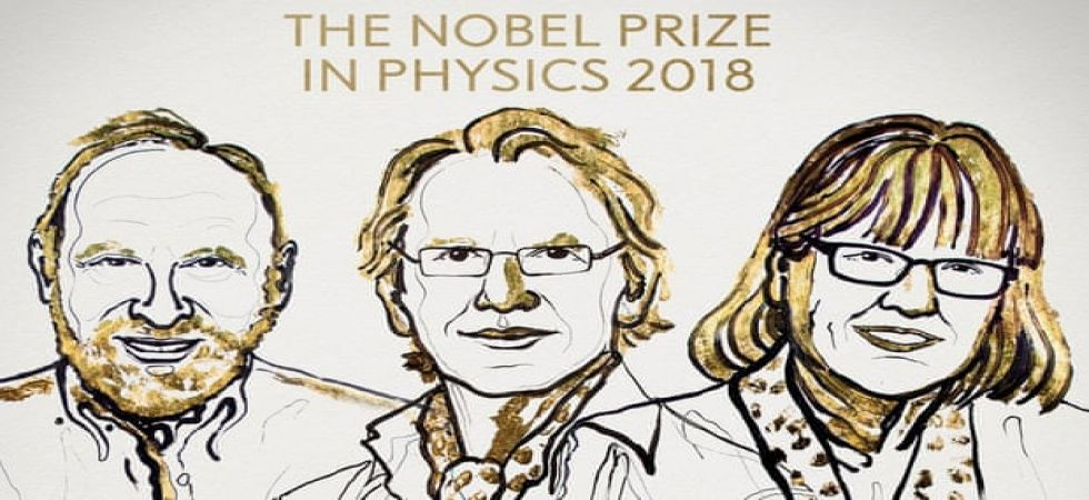 Three researchers -- Arthur Ashkin, Gerard Mourou, Donna Strickland -- on Tuesday shared the Nobel Physics Prize.