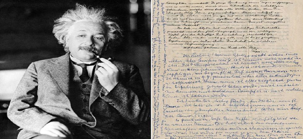 Einstein's 'God letter' to go on sale for $1 million (Photo- Twitter)