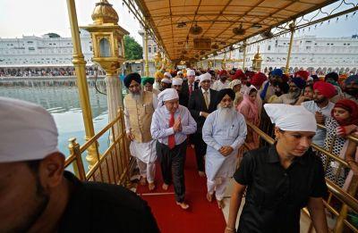 UN Secretary General Antonio Guterres visits Golden Temple in Amritsar