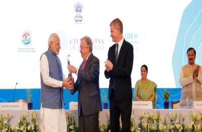 PM Narendra Modi awarded UN 'Champions of the Earth Award'