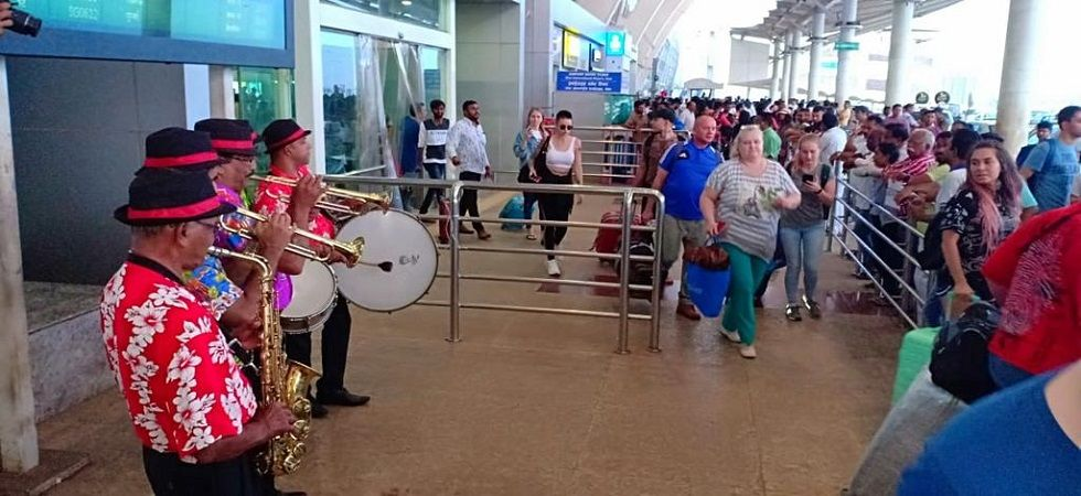 First foreign chartered flight of season lands in Goa (Photo- Twitter)