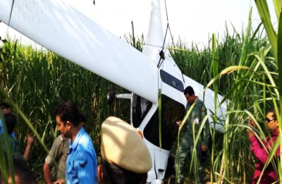 Indian Air Force microlight aircraft crashes near Baghpat in Uttar Pradesh, two pilots safe