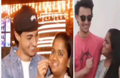Aayush Sharma pulling on Arpita Khan's cheek in public leaves her furious; Watch video inside