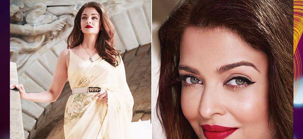 Aishwarya Rai Bachchan exudes elegance in this floral Sabyasachi sari (Photo: Instagram)