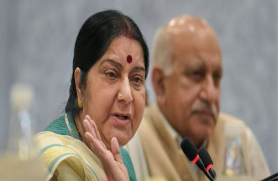 #MeToo movement: Sushma Swaraj evades questions on sexual harassment allegations against MJ Akbar