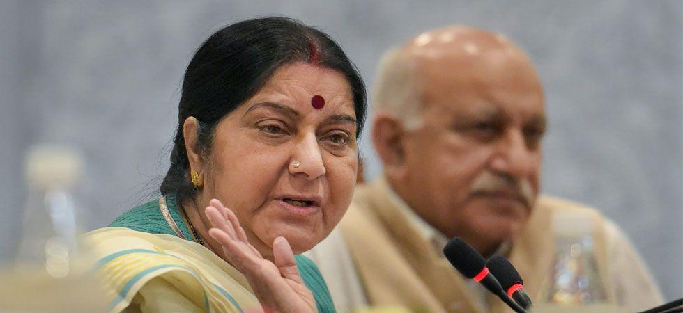 #MeToo movement: Sushma Swaraj's reaction on sexual harassment allegations against MJ Akbar (PTI Photo)