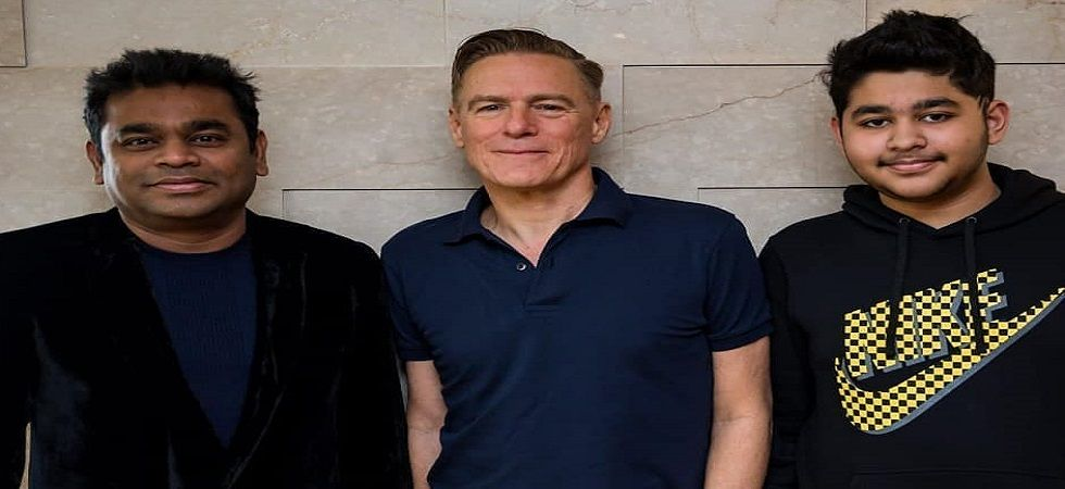 Bryan Adams meets AR Rahman and his son after Mumbai gig (Photo: Facebook)