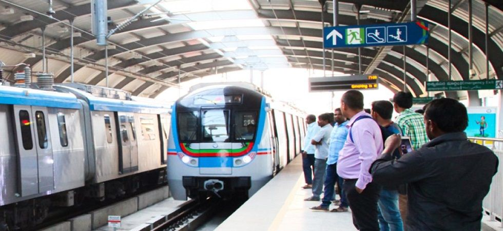 Metro rail service in Hyderabad hit (Photo- Twitter)