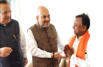 Days before Chhattisgarh assembly polls, senior Congress leader Ram Dayal Uike joins BJP