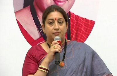 Empower women as tribute to Vijaya Raje Scindia: Smriti Irani