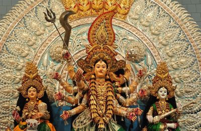 Cuttack turns golden as goddess Durga glitters with gold in Millennium City