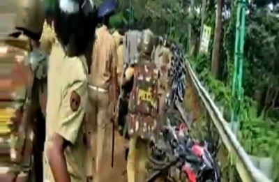 Watch: At Sabarimala Temple, policemen turn protesters, vandalise vehicles