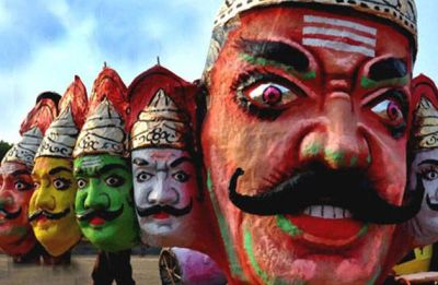 Ravana effigies in high demand on Dussehra eve