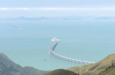 World's longest sea bridge connecting Hong Kong and China opens