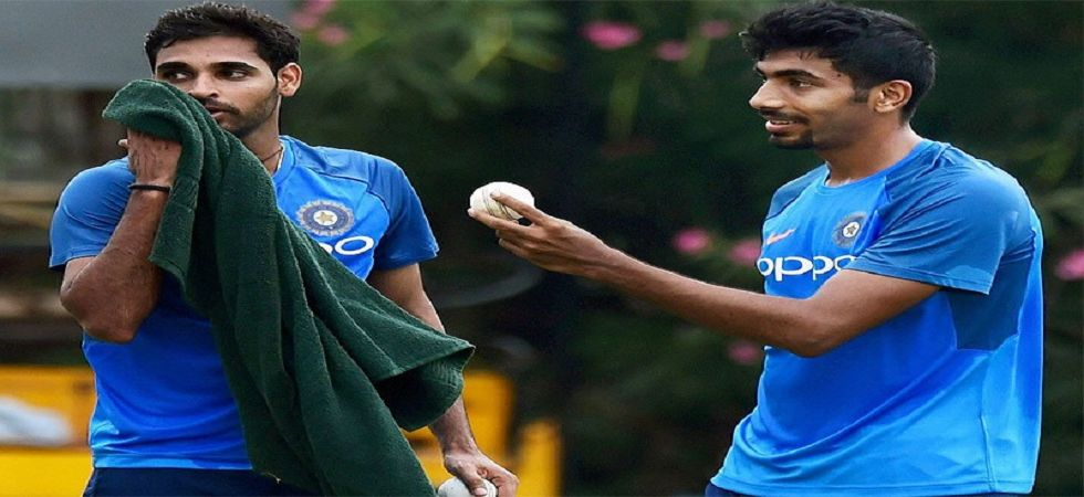 Jasprit Bumrah and Bhuvneshwar Kumar have returned to the India side for the last three ODIs against West Indies. (Image source: Twitter)