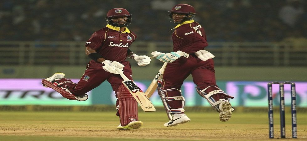 Shimron Hetmyer and Shai Hope's magnificent partnership helped West Indies tie the Vizag ODI against India. (Image credit: Twitter)