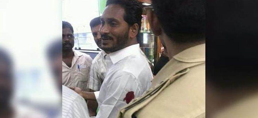 YSR Congress chief Jagan Mohan Reddy stabbed by a waiter at Vizag airport (ANI Photo)