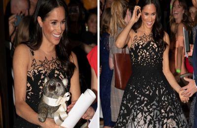 Meghan Markle is channelling her inner Disney princess in this Oscar de la Renta dress
