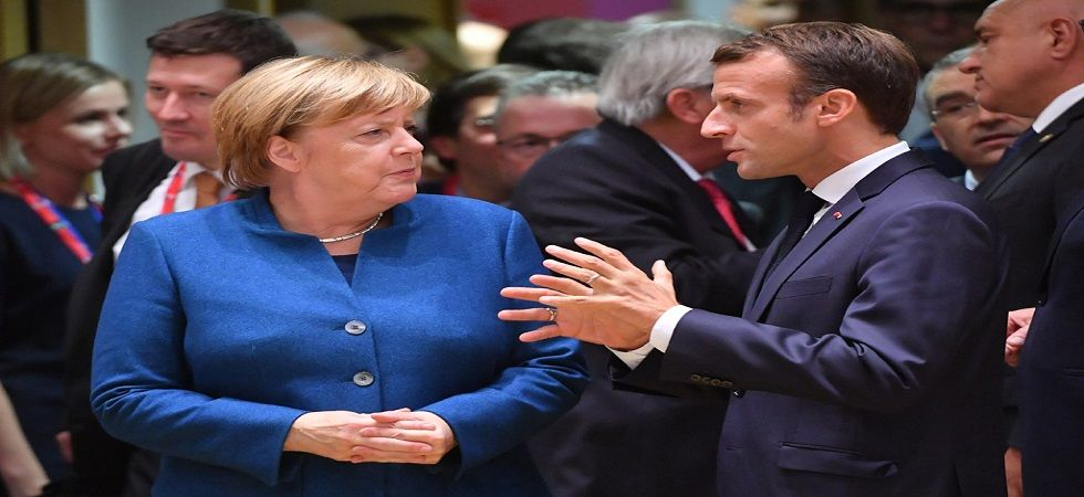 Macron, Merkel back Europe coordination on arms sales to Saudi Arabia (Photo- Twitter)